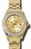 Rolex Datejust Ladies 80298 chd Pearlmaster Yellow Gold
