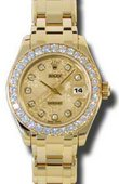 Rolex Datejust Ladies 80298 chjd Pearlmaster Yellow Gold