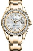 Rolex Datejust Ladies 80298 md Pearlmaster Yellow Gold