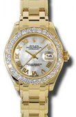 Rolex Datejust Ladies 80298 mr Pearlmaster Yellow Gold