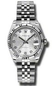 Rolex Datejust Ladies 178274 silver jubilee Steel and White Gold
