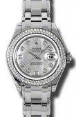 Rolex Datejust Ladies 80339 md Pearlmaster White Gold