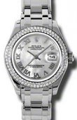 Rolex Datejust Ladies 80339 mr Pearlmaster White Gold