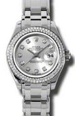 Rolex Datejust Ladies 80339 sd Pearlmaster White Gold