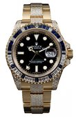 Rolex Часы Rolex GMT-Master II 116758SA Oysterlock Karat 40mm Yellow Gold Jewellery