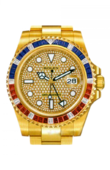 Rolex Часы Rolex GMT-Master II 116758SARU Pave 40mm Yellow Gold Jewellery