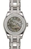 Rolex Datejust Ladies 80339 Black MOP Pearlmaster White Gold