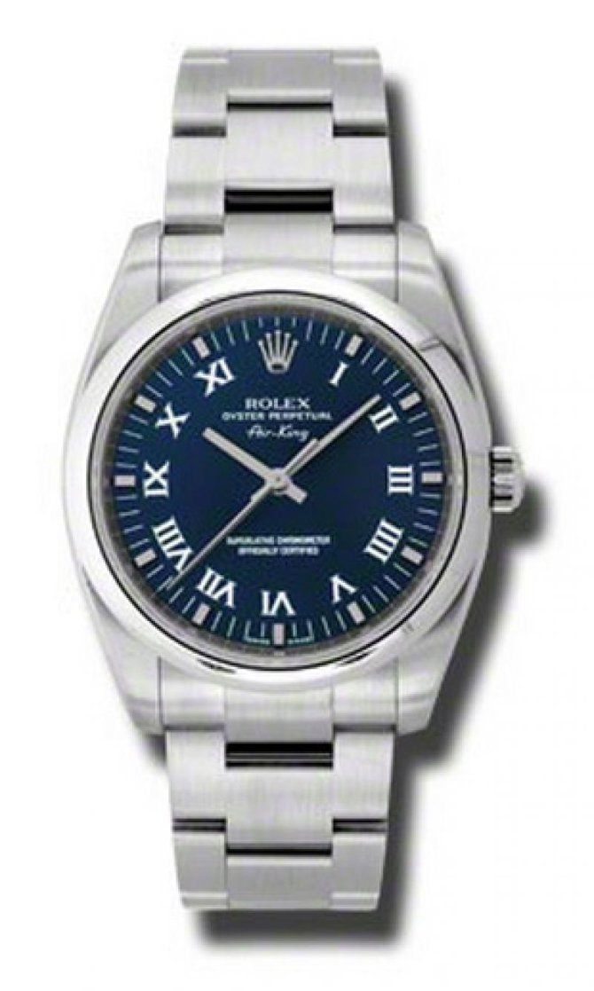 Rolex 114200 blro Oyster Perpetual Air-King 34mm Steel - фото 1