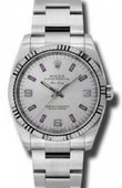 Rolex Oyster Perpetual 114234 Silver Air-King 34mm Steel and White Gold