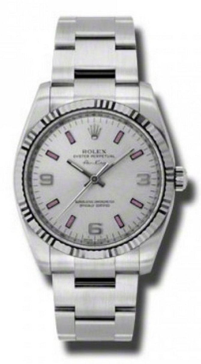 Rolex 114234 Silver Oyster Perpetual Air-King 34mm Steel and White Gold - фото 1