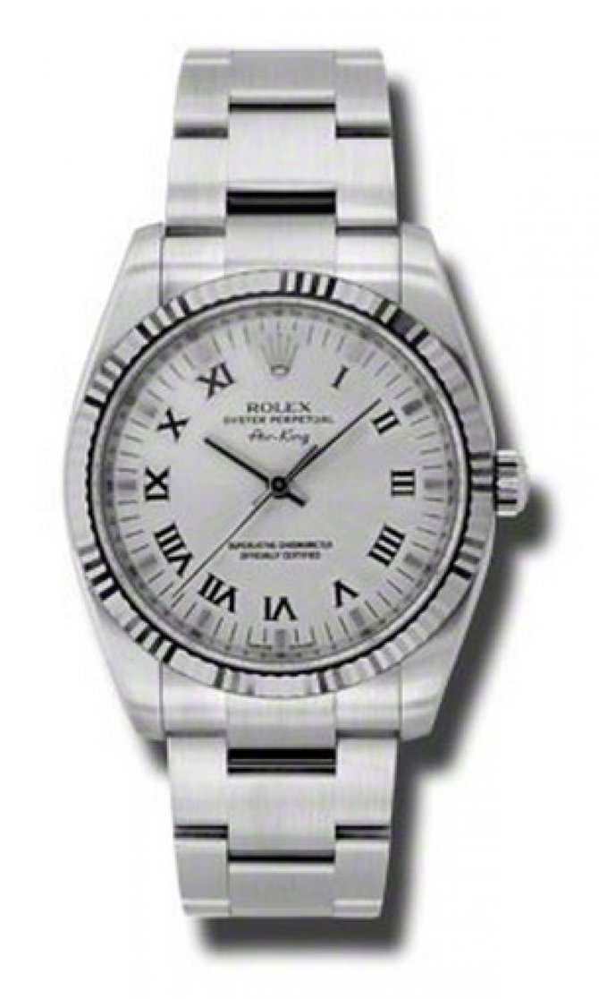 Rolex 114234 sro Oyster Perpetual Air-King 34mm Steel and White Gold - фото 1