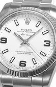Rolex Oyster Perpetual 114234 White Air-King 34mm Steel and White Gold