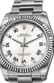 Rolex Oyster Perpetual 116034 White D 36 mm Steel and White Gold