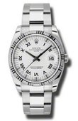 Rolex Oyster Perpetual 115234 wro Steel and White Gold