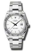 Rolex Oyster Perpetual 115234 wio Steel and White Gold