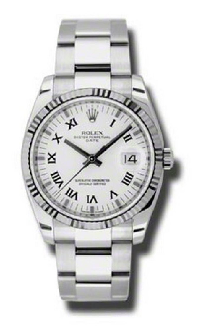Rolex 115234 White Oyster Perpetual Steel and White Gold - фото 1