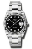 Rolex Oyster Perpetual 115234 bkdo Date Steel and White Gold