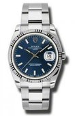 Rolex Oyster Perpetual 115234 blio Date Steel and White Gold