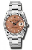 Rolex Oyster Perpetual 115234 pso Date Steel and White Gold