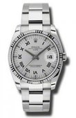 Rolex Oyster Perpetual 115234 sro Date Steel and White Gold