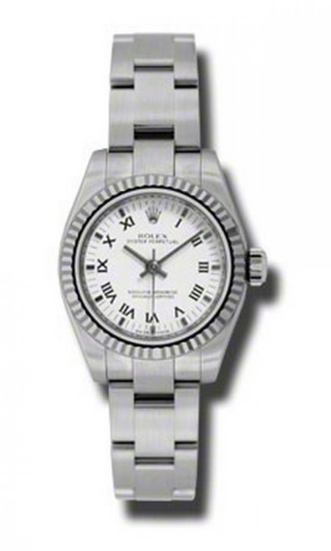 Rolex 176234 wbkro Oyster Perpetual Lady Steel and White Gold - фото 1