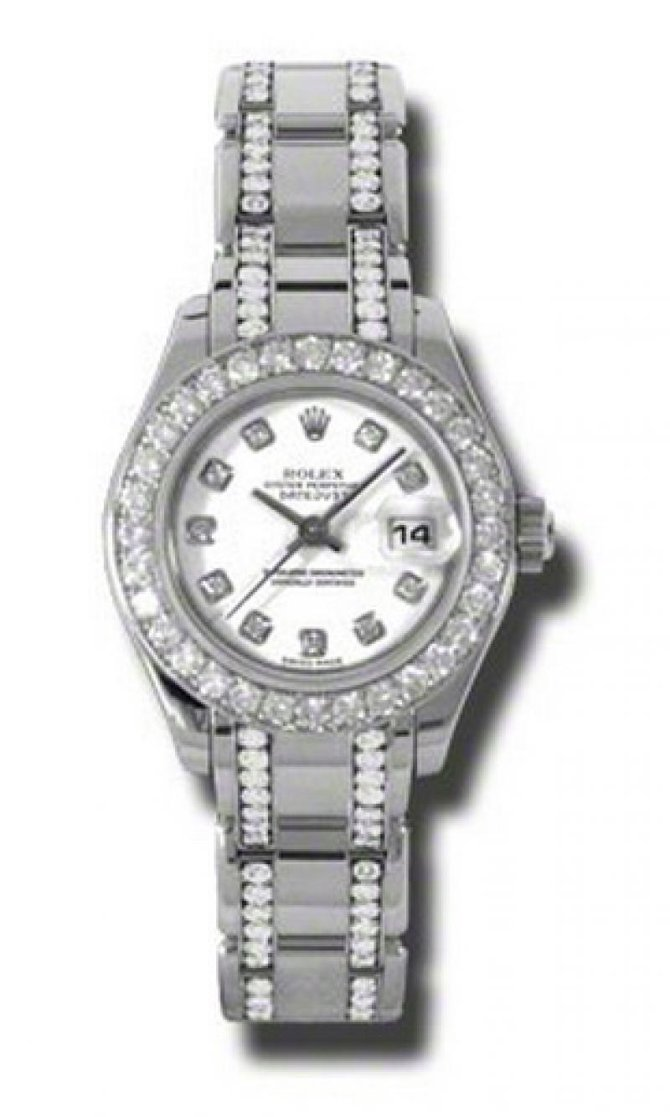 Rolex 80299.74949 wd Datejust Ladies Pearlmaster  White Gold - фото 1