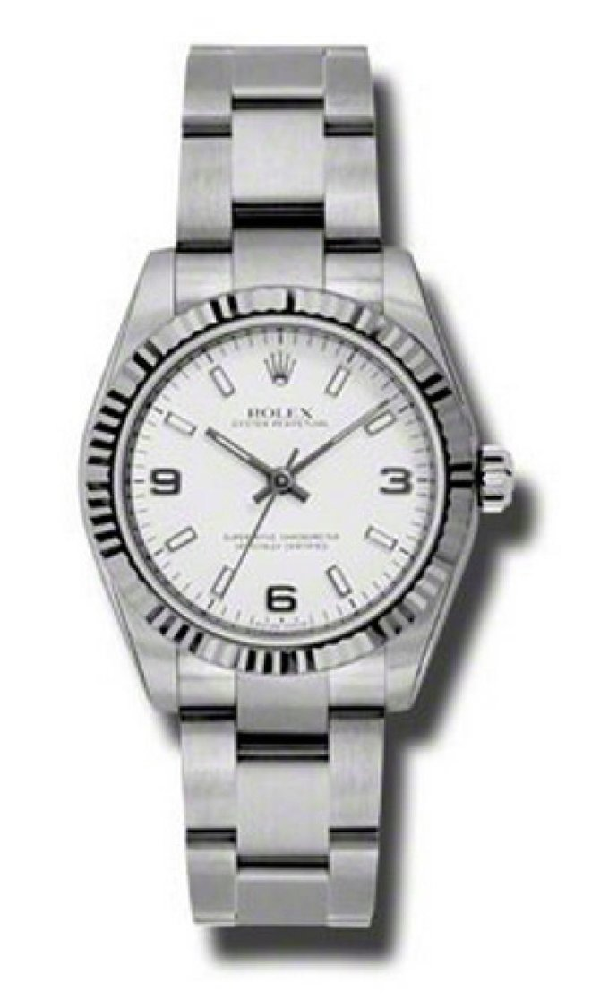 Rolex 177234 waio Oyster Perpetual Steel and White Gold - фото 1