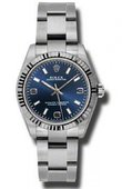 Rolex Oyster Perpetual 177234 blaio Steel and White Gold