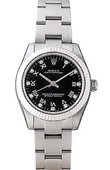 Rolex Oyster Perpetual 177234 Black D Steel and White Gold