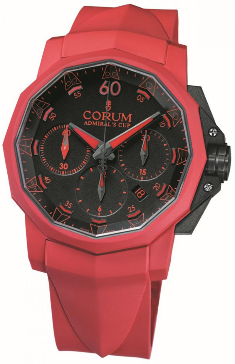 753.806.02/F376 AN31 Corum Admiral`s Cup Challenger Chrono Rubber 44 Admirals Cup Challenger