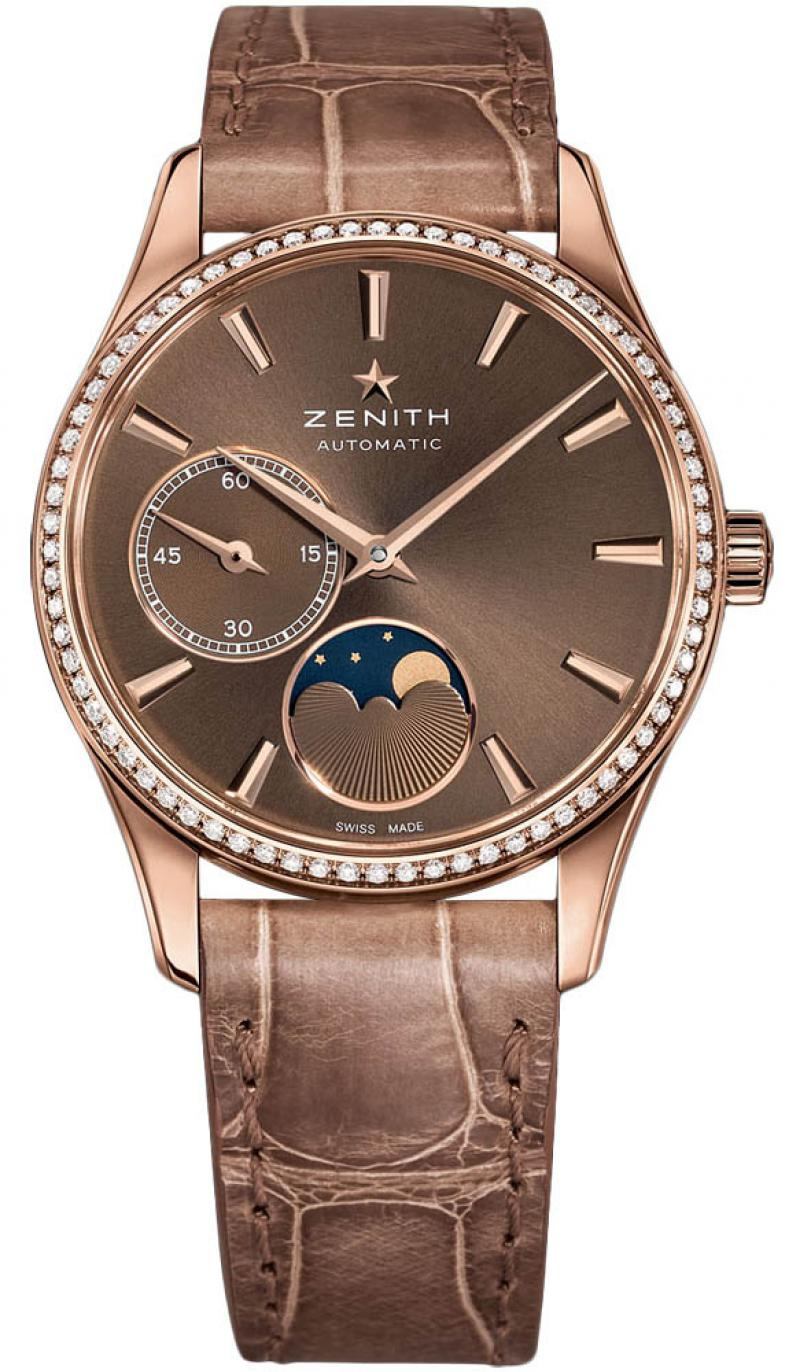 22.2310.692/75.C709 Zenith ULTRA THIN LADY MOONPHASE Ladies Collection