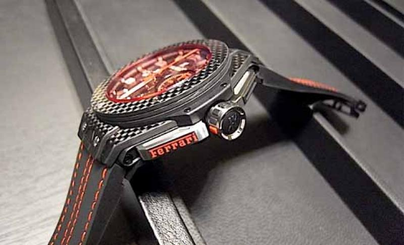 401.QX.0123.VR Hublot Ferrari Red Magic Carbon Big Bang Unico