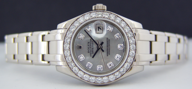 80299 md Rolex Pearlmaster 29mm White Gold Datejust Ladies