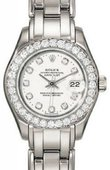 Rolex Datejust Ladies 80299 md Pearlmaster 29mm White Gold