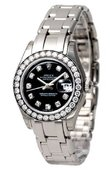 Rolex Datejust Ladies 80299 bkd Pearlmaster 29mm White Gold