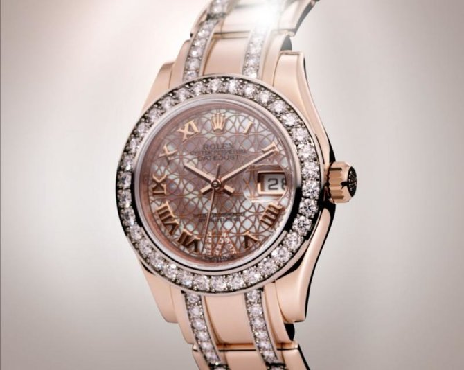 Rolex 80285 White Datejust Ladies Pearlmaster 29mm Everose Gold - фото 7