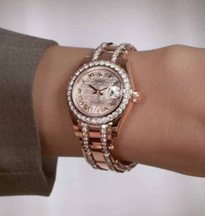 Rolex 80285 White Datejust Ladies Pearlmaster 29mm Everose Gold - фото 8