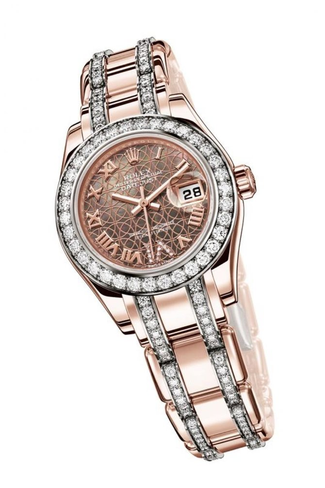 Rolex 80285 White Datejust Ladies Pearlmaster 29mm Everose Gold - фото 9