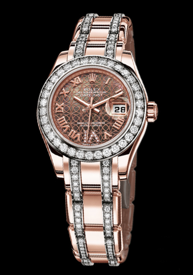 Rolex 80285 White Datejust Ladies Pearlmaster 29mm Everose Gold - фото 3