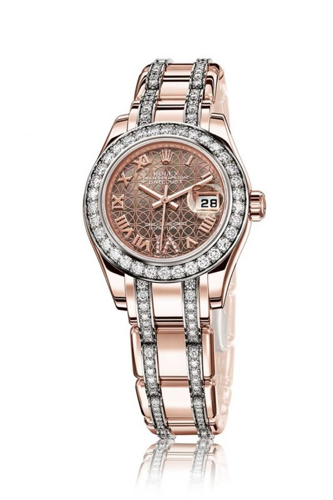Rolex 80285 White Datejust Ladies Pearlmaster 29mm Everose Gold - фото 2