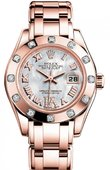 Rolex Datejust Ladies M80315-0014 Pearlmaster 29mm Everose Gold