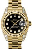 Rolex Datejust Ladies 179238 bkdp 26mm Yellow Gold