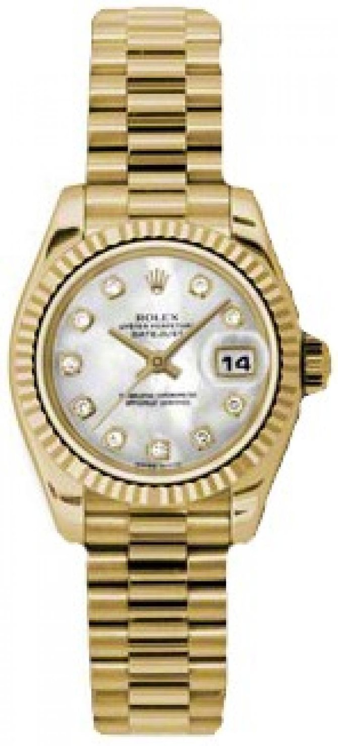 179178 mdp Rolex 26mm Yellow Gold Datejust Ladies