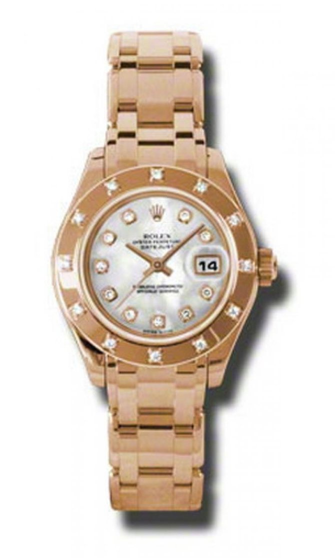 80315 md Rolex Pearlmaster Everose Gold Datejust Ladies