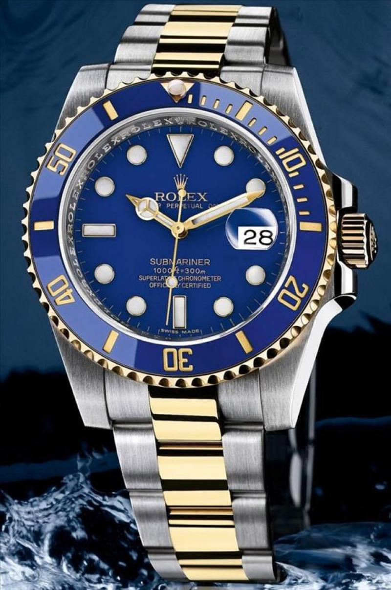 116613LB Rolex Steel and Yellow Gold Ceramic Submariner