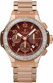 Hublot Big Bang 41mm 341.PC.3380.PC.1904 Red Gold Cappuccino Diamonds