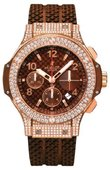 Hublot Big Bang 41mm 341.PC.3380.RC.0904 Red Gold Cappuccino Diamonds