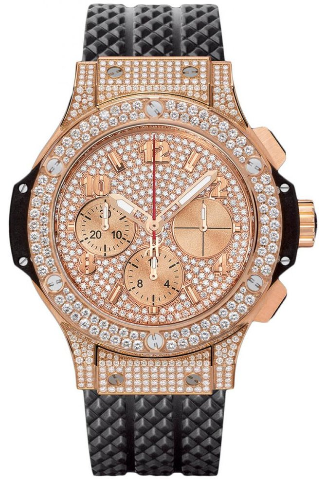 Hublot 341.PX.9010.RX.1704 Big Bang 41mm Red Gold Diamonds - фото 1
