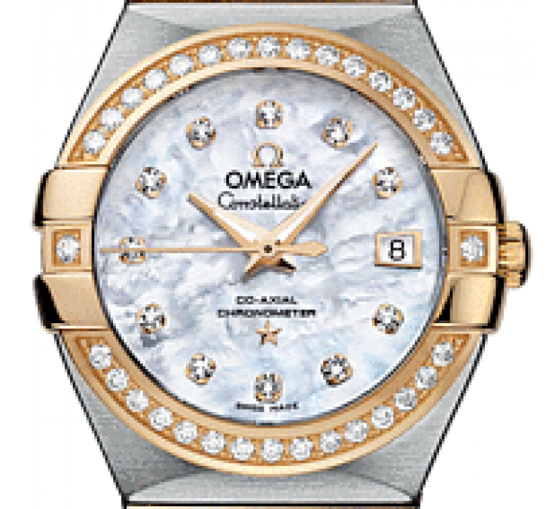 123.25.27.20.55-003 Omega Co-axial Constellation Ladies