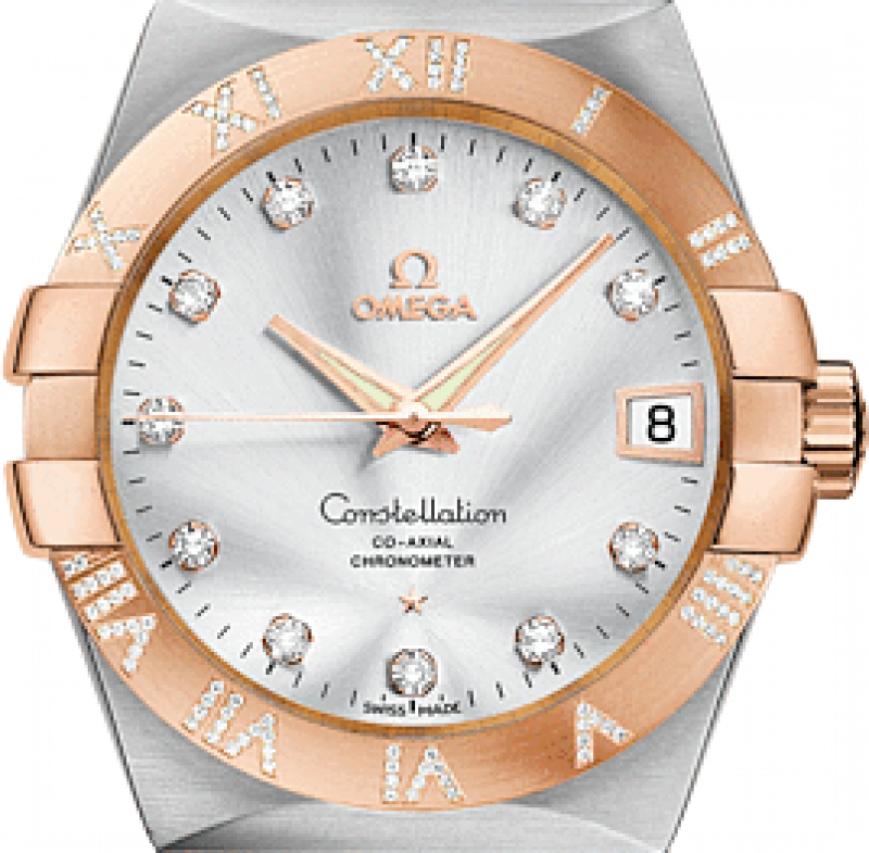 123.25.38.21.52.003 Omega Co-axial Constellation Ladies